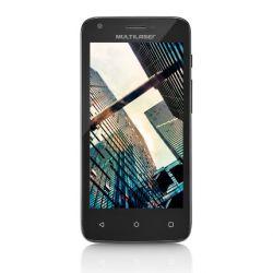 "IMAGEM 2: SMARTPHONE DESBLOQUEADO MULTILASER MS45 COLORS  - QUAD-CORE 1.2GHZ - DUAL CHIP - TELA 4.5"" - ANDROID LOLLIPOP - CÂMERA 5MP - INTERNET 3G - WI-FI - 8GB - CASE COLORIDO - PRETO"