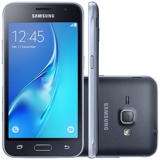 """SMARTPHONE  DESBLOQUEADO SAMSUNG GALAXY J1 MINI - DUAL CHIP - QUAD-CORE 1.2GHZ - INTERNET 3G - WI-FI - CÂMERA DE 5MP - TELA 4"""" -  PRETO"""