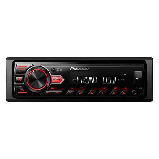 SOM AUTOMOTIVO PIONEER MVH-88UB - MEDIA RECEIVER - CONEXÃO FRONTAL USB E AUXILIAR - REPRODUZ MP3, WMA, WAVE E FALC - INTERFACE PARA ANDROID - DISPLAY ILUMINADO - PRETO