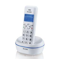 IMAGEM 1: TELEFONE SEM FIO ELGIN TSF 5001 - IDENTIFICADOR DE CHAMADAS - VIVA-VOZ - DISPLAY LCD  LUMINOSO - TOQUES POLIFÔNICOS - BAIXO CONSUMO E ENERGIA - BRANCO