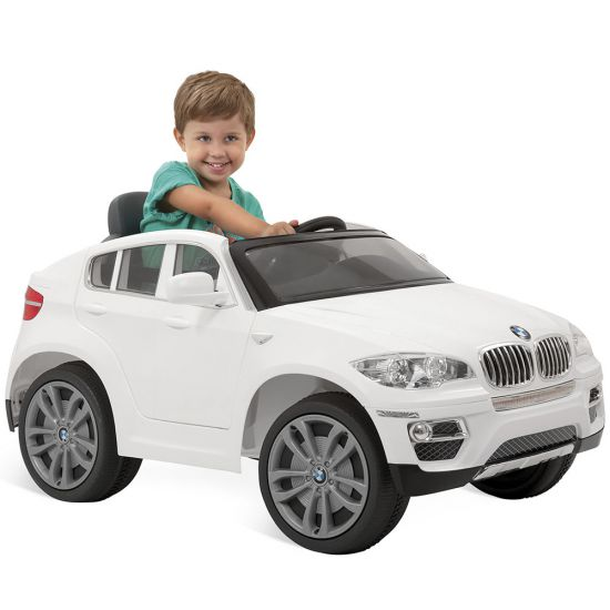 CARRO ELÉTRICO BANDEIRANTE BMW X6 CONTROLE REMOTO BRANCO