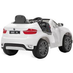IMAGEM 3: CARRO ELÉTRICO BANDEIRANTE BMW X6 CONTROLE REMOTO BRANCO