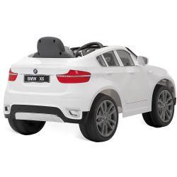 IMAGEM 5: CARRO ELÉTRICO BANDEIRANTE BMW X6 CONTROLE REMOTO BRANCO