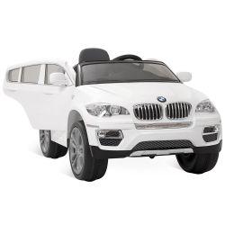 IMAGEM 6: CARRO ELÉTRICO BANDEIRANTE BMW X6 CONTROLE REMOTO BRANCO