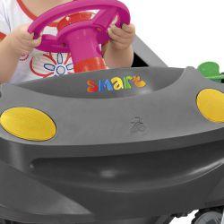 IMAGEM 10: CARRINHO DE PASSEIO BANDEIRANTE SMART BABY COMFORT - FUNÇÃO PASSEIO - FUNÇÃO ANDADOR - GRAFITE E ROSA
