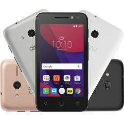 """IMAGEM 1: SMARTPHONE DESBLOQUEADO ALCATEL PIXI 4 - TELA 4"""" - PROCESSADOR QUAD-CORE - MEMÓRIA 8GB - INTERNET 3G - WI-FI - CÂMERA TRASEIRA 8MP E FRONTAL 5MP COM FLASH - METALIC"""