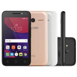 """IMAGEM 2: SMARTPHONE DESBLOQUEADO ALCATEL PIXI 4 - TELA 4"""" - PROCESSADOR QUAD-CORE - MEMÓRIA 8GB - INTERNET 3G - WI-FI - CÂMERA TRASEIRA 8MP E FRONTAL 5MP COM FLASH - METALIC"""