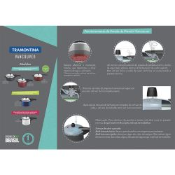 IMAGEM 2: PANELA DE PRESSÃO TRAMONTINA VANCOUVER 4,5 LITROS - REVESTIMENTO STARFLON - ACABAMENTO INTERNO SATINADO - VÁLVULA DE SEGURANÇA - PRETA