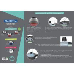 IMAGEM 2: PANELA DE PRESSÃO TRAMONTINA VANCOUVER 6 LITROS - REVESTIMENTO STARFLON T1 - ACABAMENTO INTERNO SATINADO - VÁLVULA DE SEGURANÇA - VERMELHA