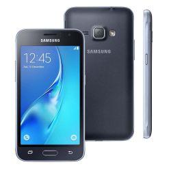 """IMAGEM 1: SMARTPHONE SAMSUNG GALAXY J1 2016 - DUAL CHIP - ANDROID - TELA 4,5"""" - 8GB - CÂMERA 5MP  - PRETO"""