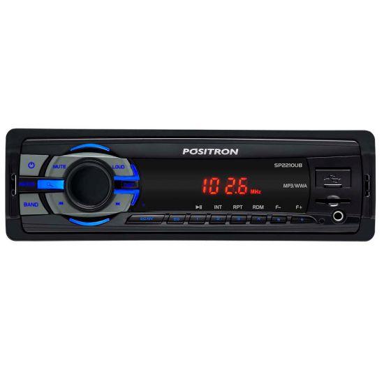 SOM AUTOMOTIVO PÓSITRON SP2210 UB - USB - LEITOR DE CARTÃO - AUXILIAR - MP3 E WMA - PRETO