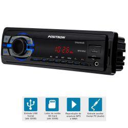 IMAGEM 2: SOM AUTOMOTIVO PÓSITRON SP2210 UB - USB - LEITOR DE CARTÃO - AUXILIAR - MP3 E WMA - PRETO