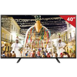 IMAGEM 1: TV PANASONIC VIERA TC-40D400B - LED - FULLHD - CONVERSOR DIGITAL - MEDIA PLAYER - 60/240HZ - PRETO