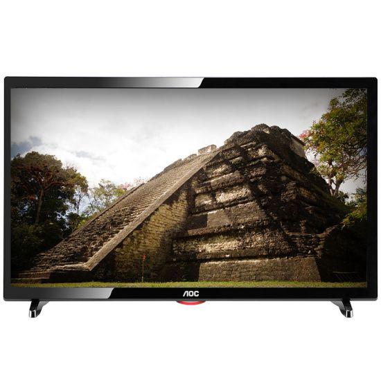 """TV LED 19"""" AOC LE19D1461/20 - RECEPTOR DIGITAL - 2 ENTRADA HDMI - 1 ENTRADA USB - P2 - RESOLUÇÃO HD - PRETA"""