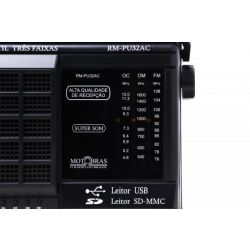 IMAGEM 5: RÁDIO PORTÁTIL RM-PU32 MOTOBRAS 3 FAIXAS FM/OM/OC USB E LEITOR DE CARTÕES