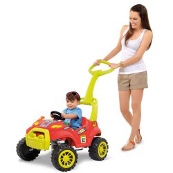 IMAGEM 3: SMART CAR BANDEIRANTE COM PEDAL E HASTE REMOVÍVEL VERMELHO