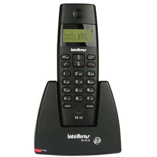 TELEFONE SEM FIO INTELBRAS TS 40 ID COM IDENTIFICADOR DE CHAMADAS - PRETO