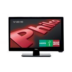 "IMAGEM 1: TV LED 16"" PHILCO PH16D10D HD CONVERSOR DIGITAL HDMI - PRETO"