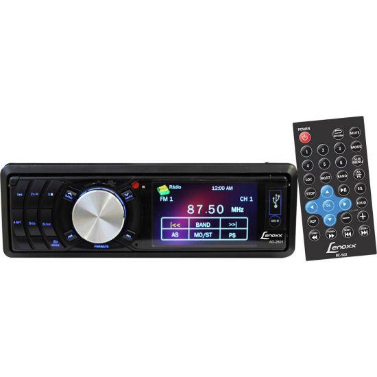 """SOM AUTOMOTIVO LENOXX AD-2601 TELA DE 3"""" ENTRADA USB, CARTÃO MINI SD E AUXILIAR"""