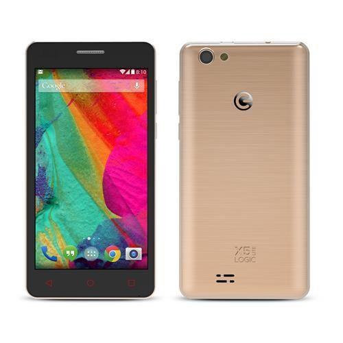 """SMARTPHONE LOGIC X5 LITE 5"""" DUAL CHIP WI-FI 3G CÂMERA DE 5MP - DOURADO"""