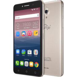 """IMAGEM 1: SMARTPHONE ALCATEL PIXI 4 TELA 6"""" CÂMERA FRONTAL COM FLASH QUAD CORE - DOURADO"""