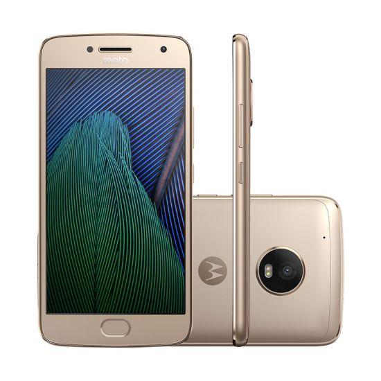 SMARTPHONE MOTOROLA MOTO G5 PLUS TV DIGITAL SENSOR BIOMÉTRICO ANDROID 7 32GB 4G - OURO