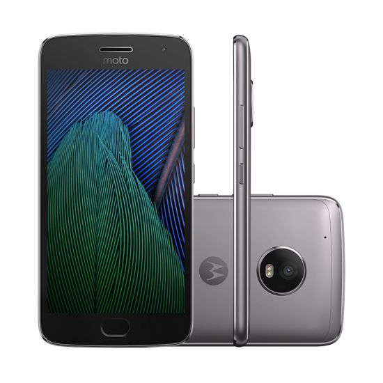 SMARTPHONE MOTOROLA MOTO G5 PLUS TV DIGITAL SENSOR BIOMÉTRICO ANDROID 7 32GB 4G - PLATINUM