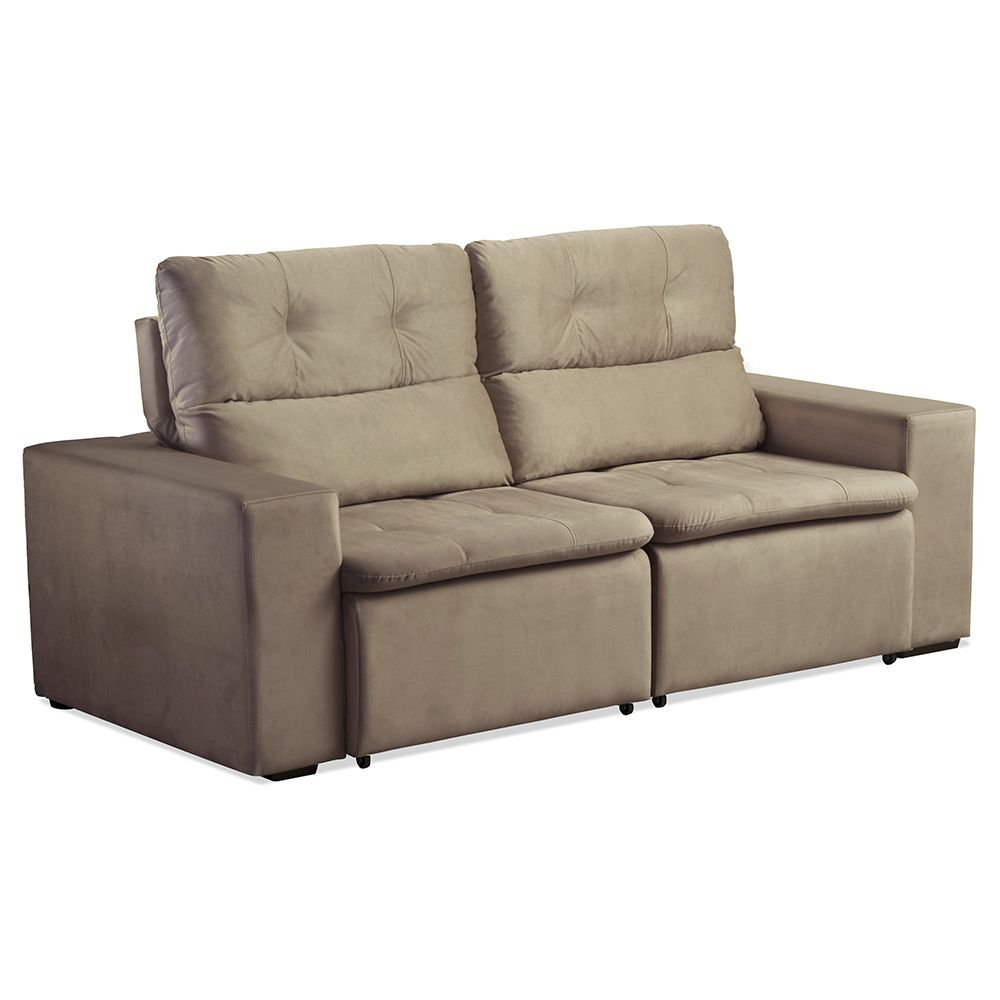 Sof matielo deville 3 lugares encosto reclin vel e for Sofa 5 lugares reclinavel e assento retratil