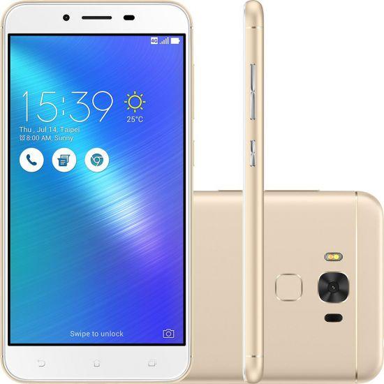 "SMARTPHONE ASUS ZENFONE 3 MAX 5.2"" QUAD-CORE 16GB 4.100MAH E 4G - DOURADO"