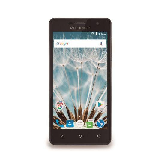 SMARTPHONE MULTILASER M50S COLORS COM PROCESSADOR QUAD-CORE + MICRO SD 16GB - PRETO