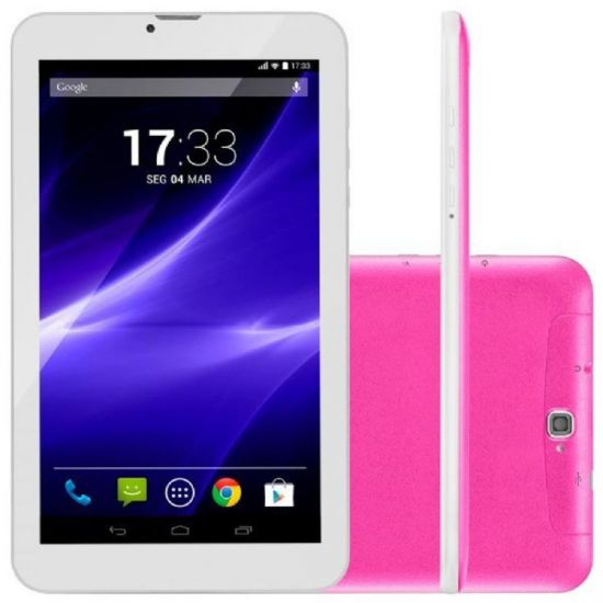 TABLET MULTILASER M9 3G QUAD CORE 8GB WI-FI - ROSA