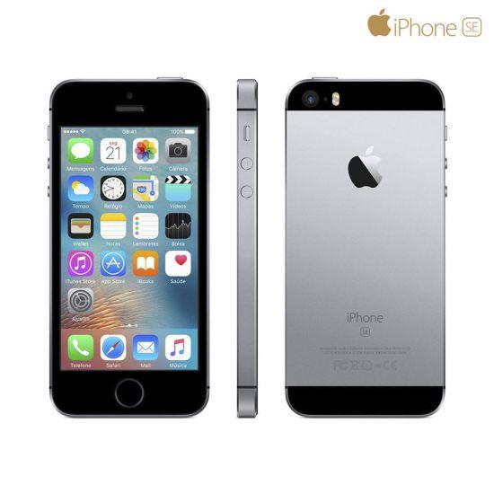 IPHONE SE CINZA ESPACIAL 32 GB IOS10 APPLE CÂMERA 12MP FILMA EM 4K