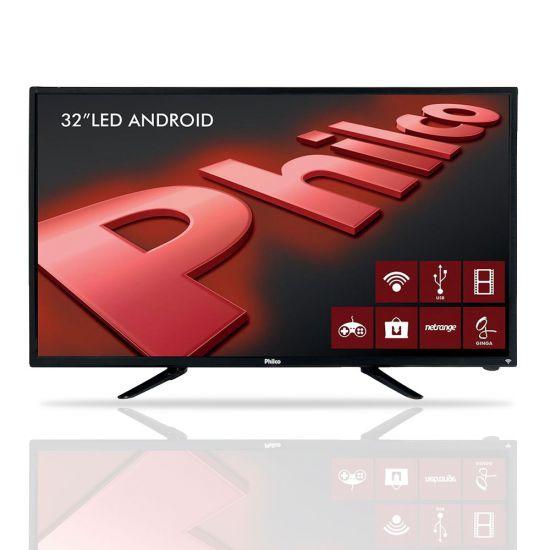 "SMART TV LED 32"" PHILCO PH32B51DSGWA HDMI COM ANDROID"