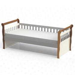 IMAGEM 1: CAMA INFANTIL CAROLINA BABY BABÁ JÚLIA - AMADEIRADO RÚSTICO E BRANCO
