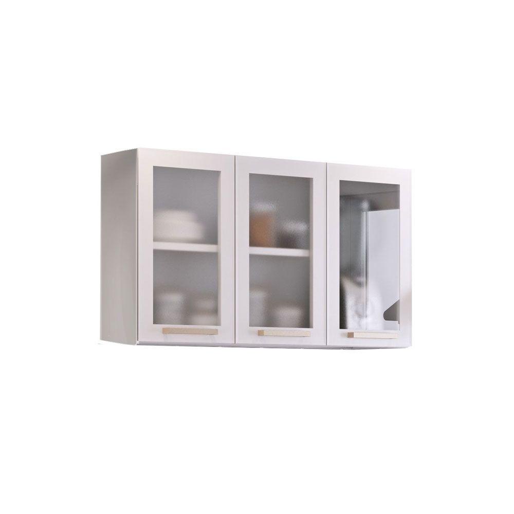 Armario De Parede Cozinha Itatiaia : Arm?rio de cozinha itatiaia lara class triplo com vidro