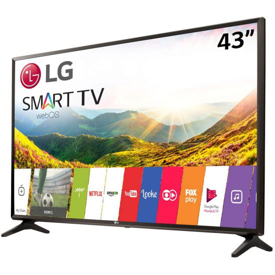 "SMART TV LG 43"" POLEGADAS LED COM WEBOS 3.5 - LJ5550"