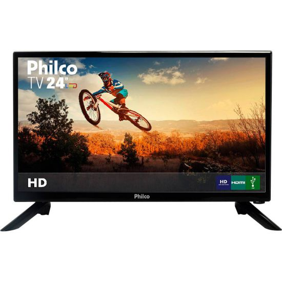 """TV PHILCO LED 24"""" POLEGADAS COM RECEPTOR DIGITAL HDMI USB PH24N91D"""