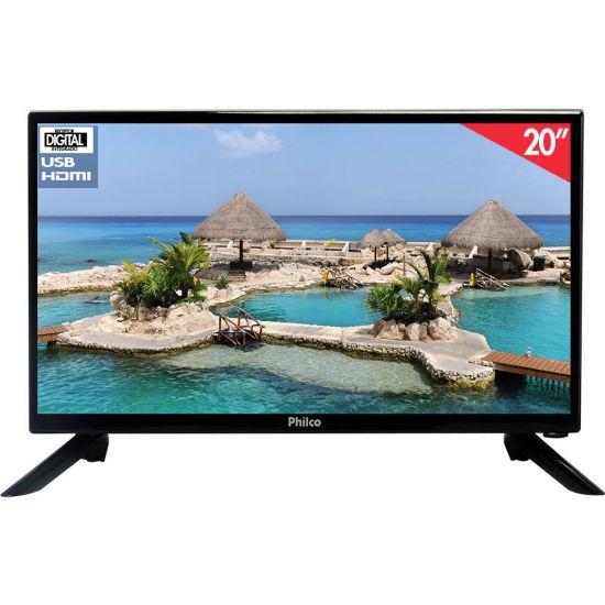 """TV PHILCO LED 20"""" POLEGADAS RECEPTOR DIGITAL HDMI USB PH20M91D"""