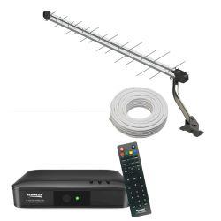 IMAGEM 1: COMBO ANTENA EXTERNA UHF E HDTV + CONVERSOR C/ GRAVADOR DIGITAL VISIONTEC